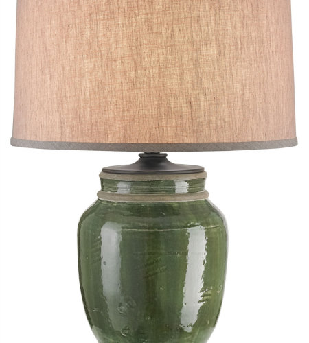 Currey & Company 6827 Carver Table Lamp In Green/French Black