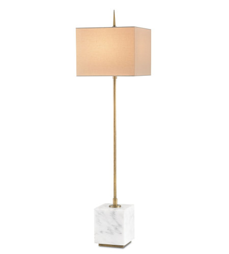 Currey And Company 6975 Thompson Console Lamp Currey In A Hurry In Brass/White