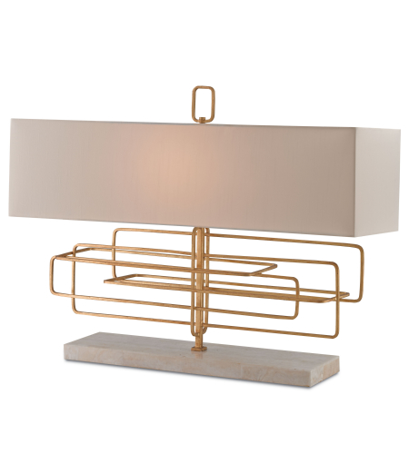 Currey And Company 6976 Metro Table Lamp In Contemporary Gold Leaf