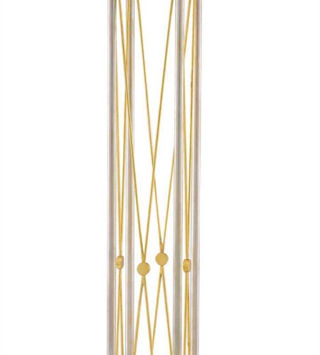 Currey & Company 8000-0029 Faine Floor Lamp In Contemporary Silver Leaf/Contemporary Gold Leaf
