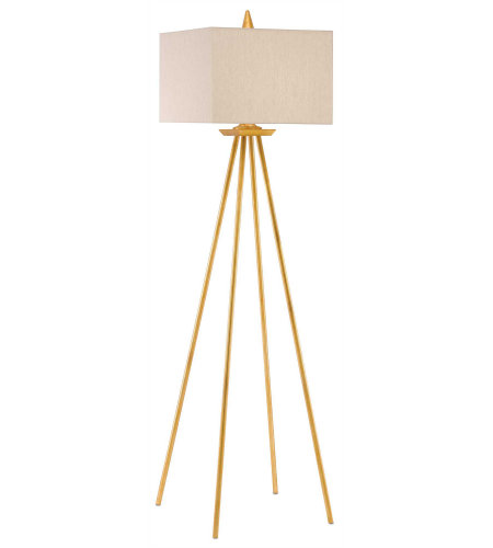 Currey & Company 8000-0031 Akimbo Floor Lamp in Contemporary Gold Leaf