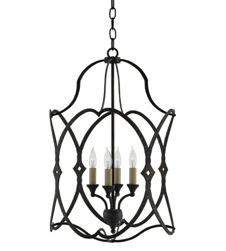 Currey & Company 9000-0024 Charisma Lantern, Small In French Black