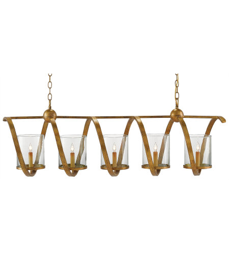 Currey & Company 9000-0054 Maximus Gold Chandelier in Washed Gold Leaf
