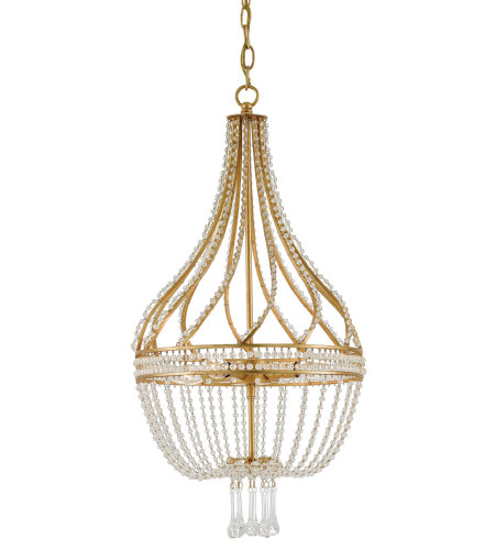 Currey & Company 9000-0061 Ingenue Gold Chandelier in Antique Gold Leaf