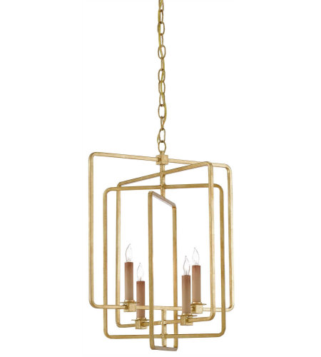 Currey & Company 9000-0071 Metro Square Chandelier in Contemporary Gold Leaf