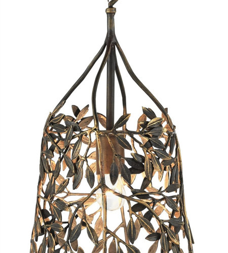 Currey And Company 9000-0115 Parterre Pendant In Antique Brass