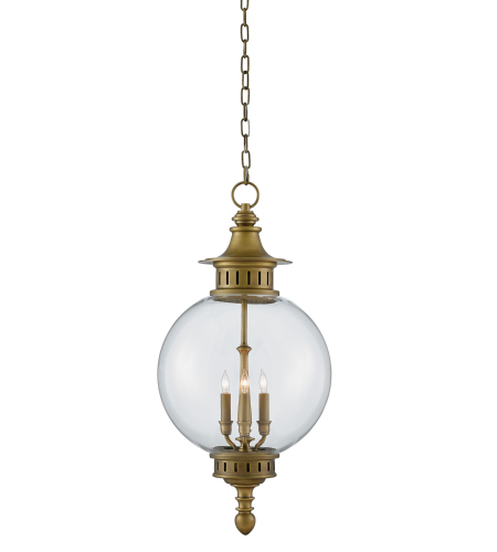 Currey And Company 9000-0118 Archive Lantern In Antique Brass