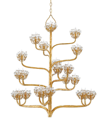 Currey And Company 9000-0157 Agave Americana Chandelier In Dark Contemporary Gold Leaf