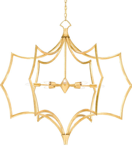 Currey & Company 9000-0215 Garconne Chandelier In Contemporary Gold Leaf