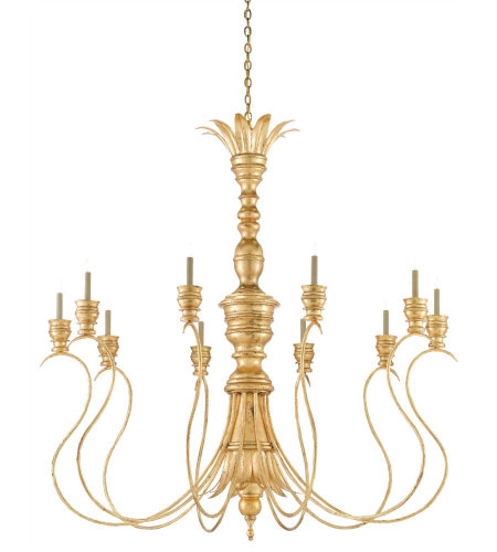 Currey & Company 9000-0256 Grand Palais Chandelier In Siena Gold Leaf