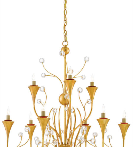 Currey & Company 9000-0288 Iona Chandelier In Contemporary Gold Leaf