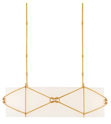Currey & Company 9000-0322 Ariadne Oval Chandelier In Contemporary Gold Leaf