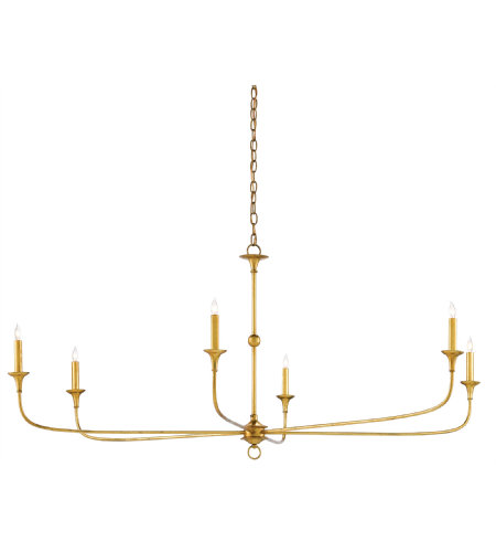 Currey & Company 9000-0370 Nottaway Chandelier In Contemporary Gold Leaf