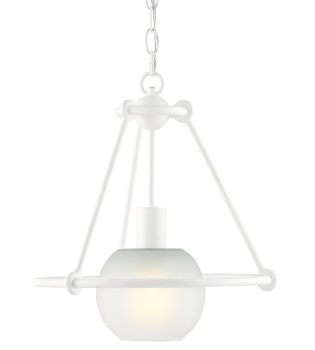 Currey & Company 9000-0442 Halliday Pendant in Gesso White