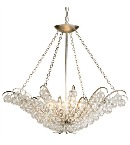 Currey And Company 9000 Quantum Chandelier In Contemporary Silver Leaf