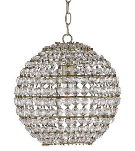 Currey & Company 9005 Roundabout Pendant In Silver Leaf