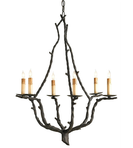 Currey And Company 9006 6 Light Soothsayer Chandelier In Rustic Bronze