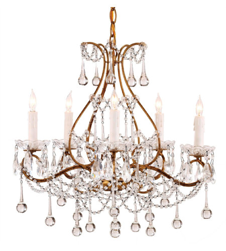 Currey & Company 9008 Paramour Chandelier in Smoke Gold