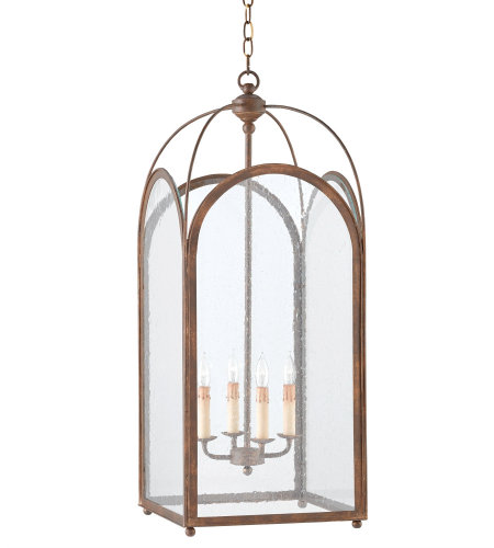 Currey And Company 9035 4 Light Loggia Lantern In Rustic Gold