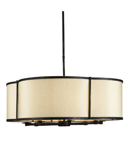 Currey & Company 9050 Linley Pendant In French Black