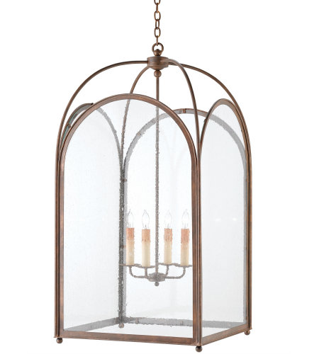 Currey & Company 9075 Loggia Lantern, Large in Rustic Gold