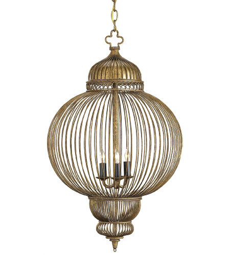 Currey & Company 9137 Giltspur Chandelier in Rustic Gold/Antique Black
