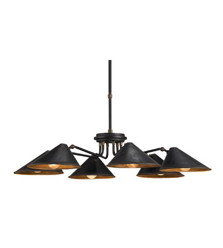 Currey & Company 9308 Fainlight Chandelier In Blacksmith/Cupertino