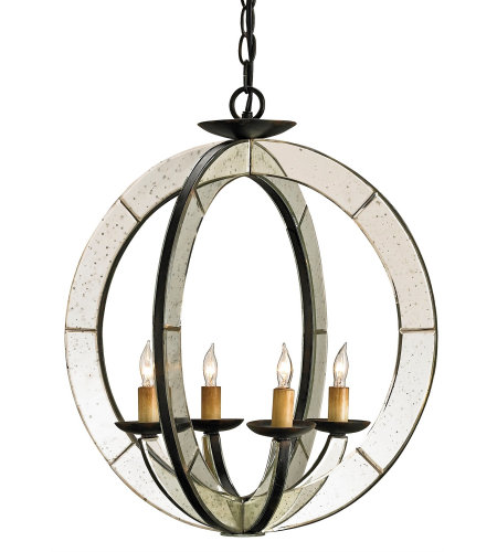Shop for mirrors at foundry lighting currey company 9400 meridian chandelier in old ironantique mirror aloadofball Image collections