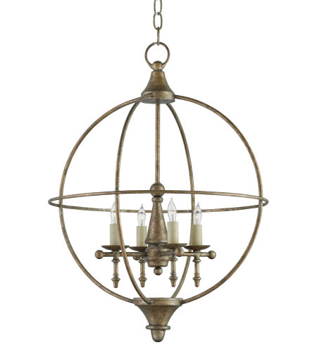 Currey & Company 9425 Rondeau Chandelier In Pyrite Bronze