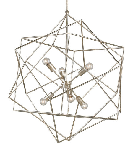 Currey And Company 9455 Aerial Chandelier Currey In A Hurry In Silver Granello