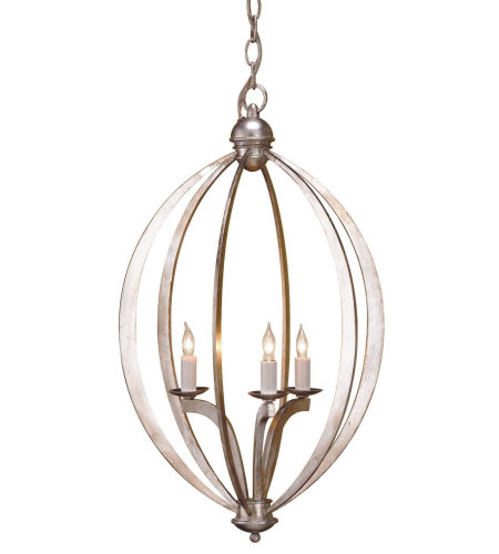 Currey And Company 9482 Bella Luna Chandelier, Small In Contemporary Silver Leaf