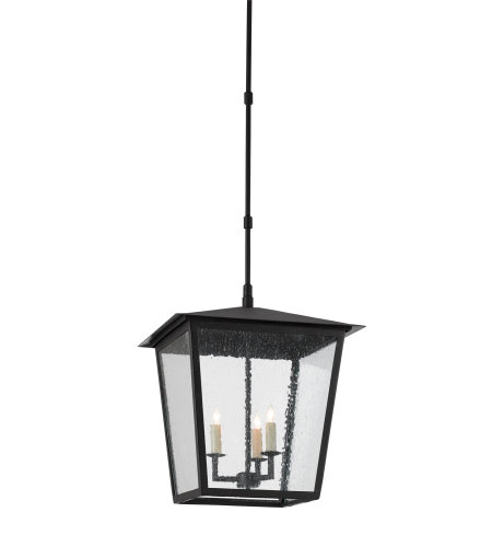 Currey & Company 9500-0002 Bening Outdoor Lantern, Large in Midnight