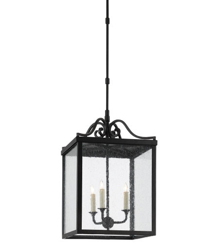 Currey & Company 9500-0006 Giatti Outdoor Lantern, Large in Midnight