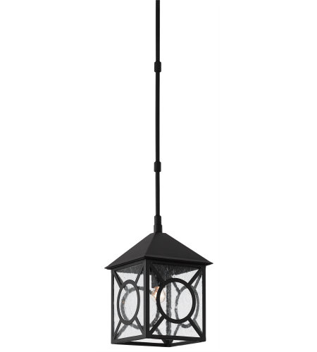 Currey & Company 9500-0007 Ripley Outdoor Lantern, Small in Midnight