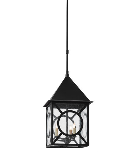 Currey & Company 9500-0008 Ripley Outdoor Lantern, Large in Midnight