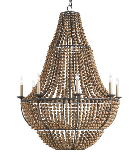 Currey & Company 9502 Falconwood Chandelier In Old Bronze