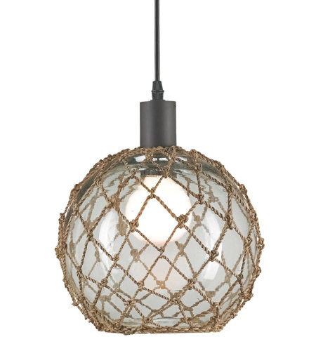 Currey And Company 9577 Fairwater Pendant, Large In Natural/Old Iron