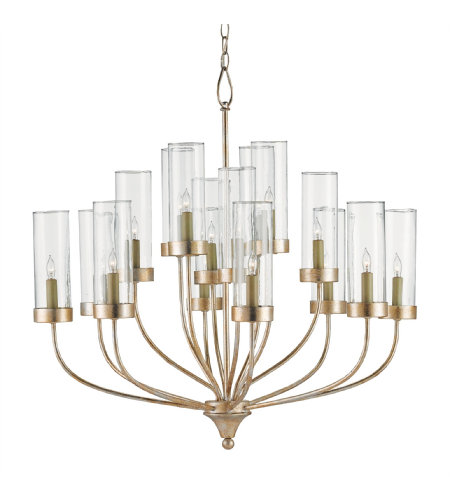 Currey & Company 9633 Hove Chandelier In Silver Granello