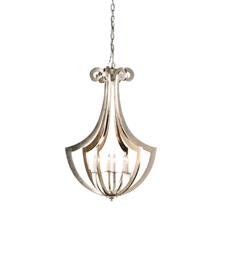 Currey And Company 9639 Venus Chandelier In Contemporary Silver Leaf