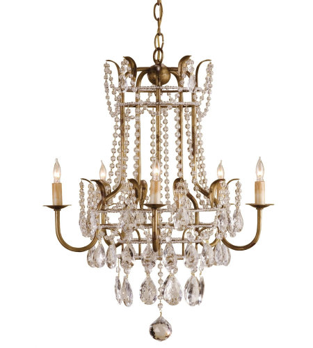 Currey & Company 9643 Laureate Chandelier in Rhine Gold