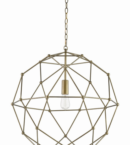 Currey & Company 9706 Percy Chandelier In Antique Brass