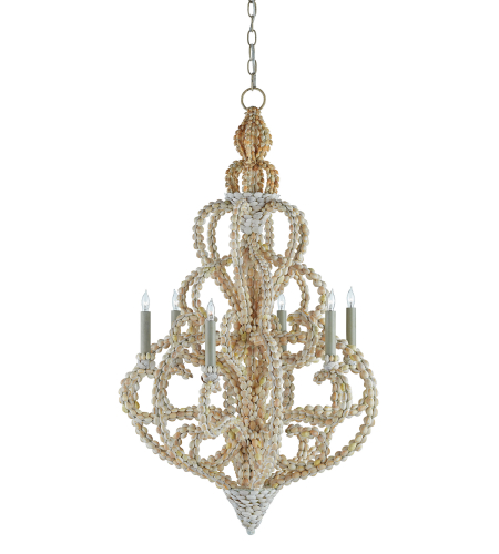 Currey And Company 9769 6 Light Corniche Chandelier In Natural