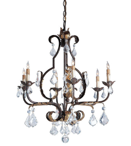 Currey & Company 9828 Tuscan Large Chandelier in Venetian/Gold Leaf