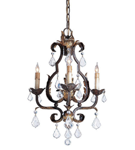 Currey & Company 9829 Tuscan Chandelier, Small in Venetian/Gold Leaf/Swarovski Crystal