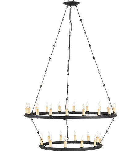 Currey & Company 9935 Toulouse Chandelier In Blacksmith