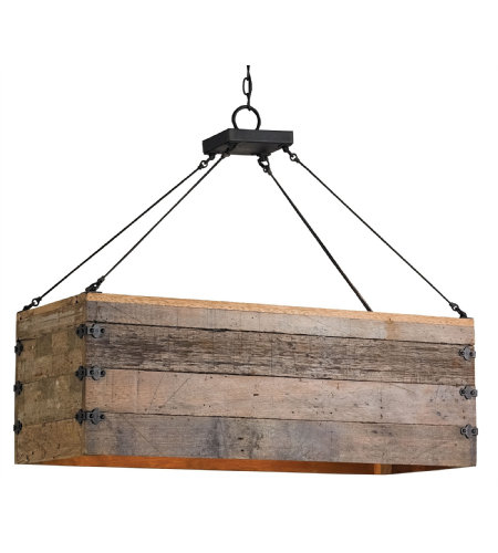 Currey & Company 9994 Billycart Chandelier In Blacksmith/Natural