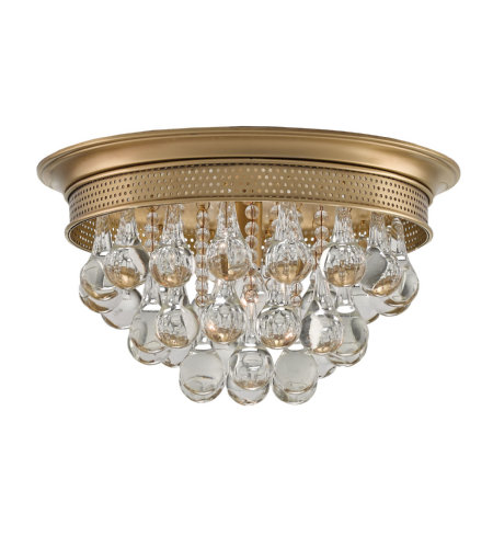 Currey & Company 9999-0002 Worthing Flush Mount in Antique Brass