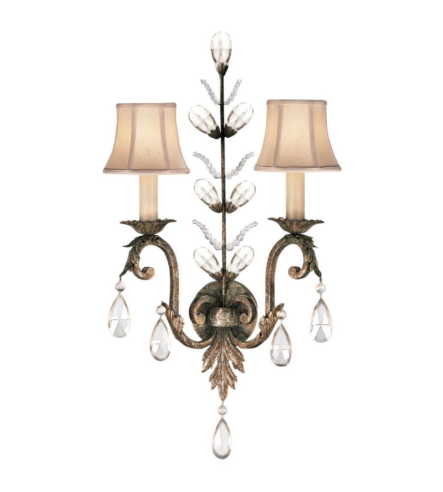 Fine Art Lamps 142550ST A Midsummer Nights Dream 2 Light Sconce in Gold