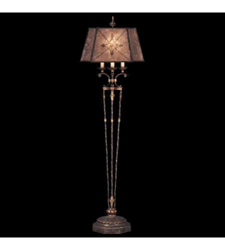 Fine Art Lamps 166120ST Villa 1919 1 Light Floor Lamp In Warm Finish Of Rich Umber With Gilded Accents