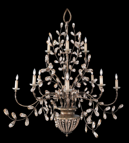 Fine Art Lamps 175940st A Midsummer Nights Dream 12 Light Chandelier In Gold